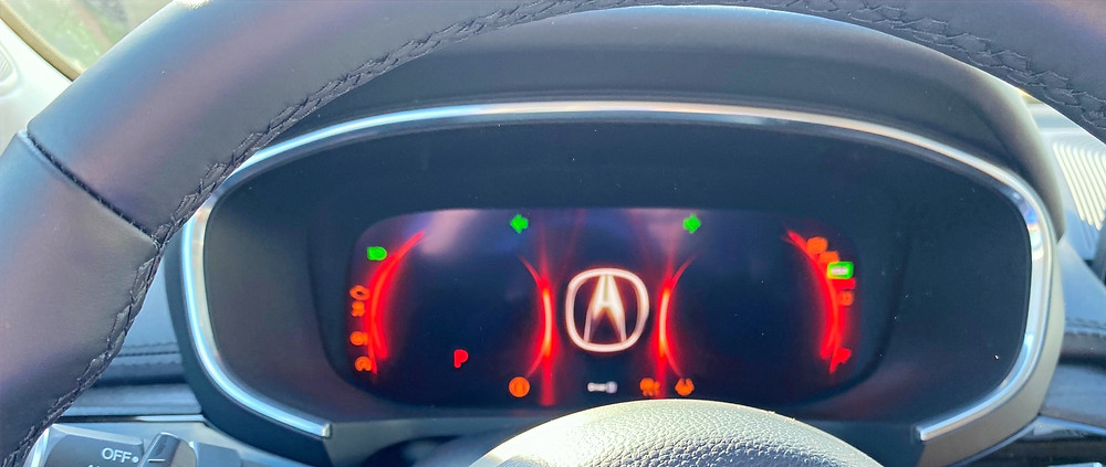 2022 Acura MDX SH-AWD Advance gauge cluster