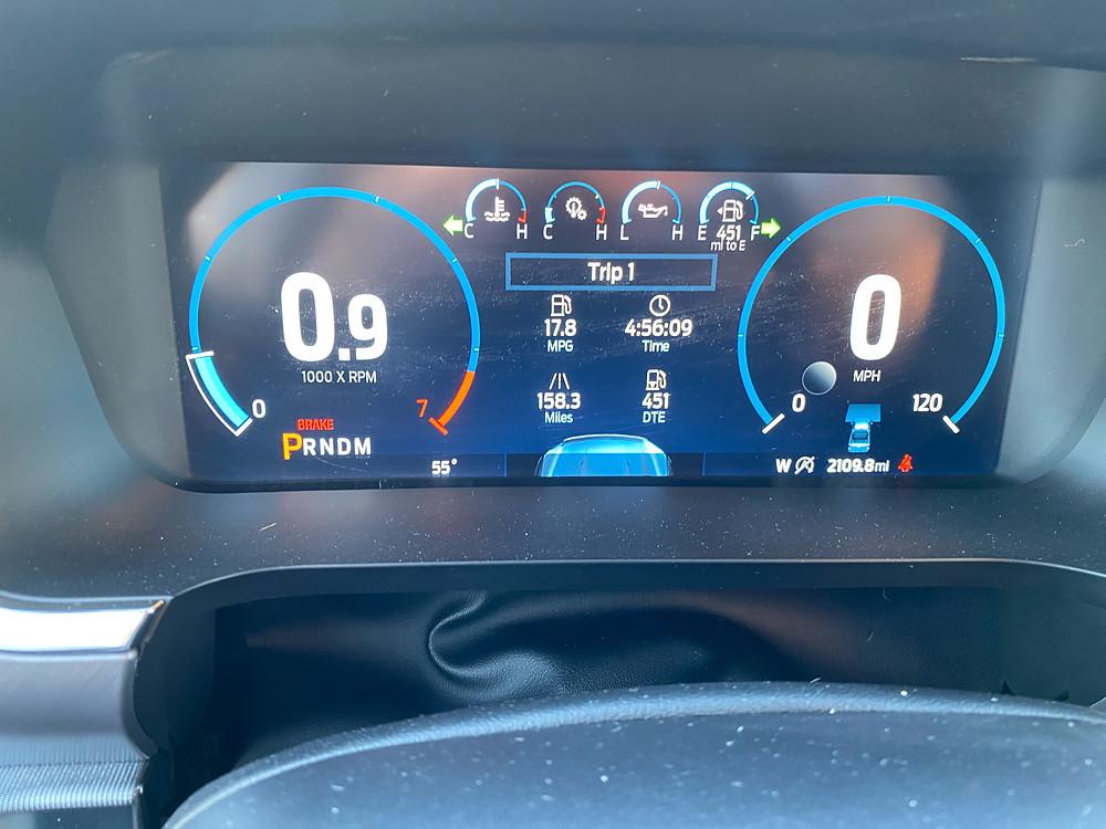 2021 Ford F-150 4X4 Supercrew gauge cluster