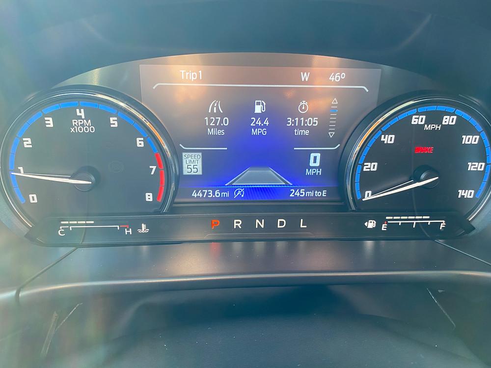 2021 Ford Bronco Sport Outer Banks 4X4 gauge cluster