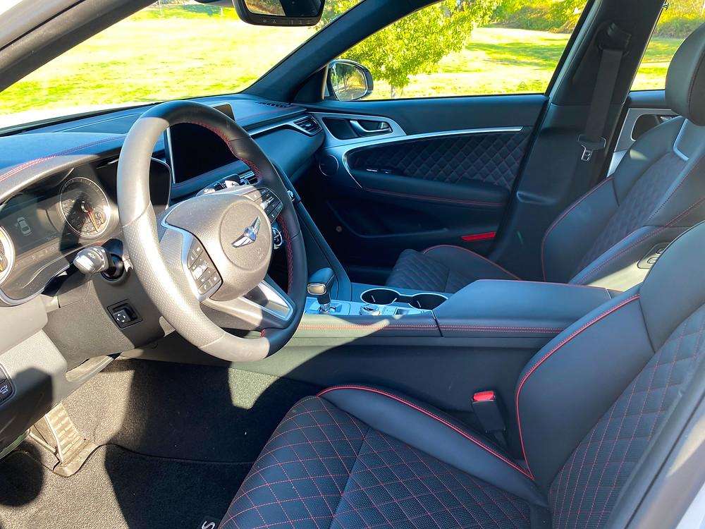 2020 Genesis G70 3.3T Sport front seats