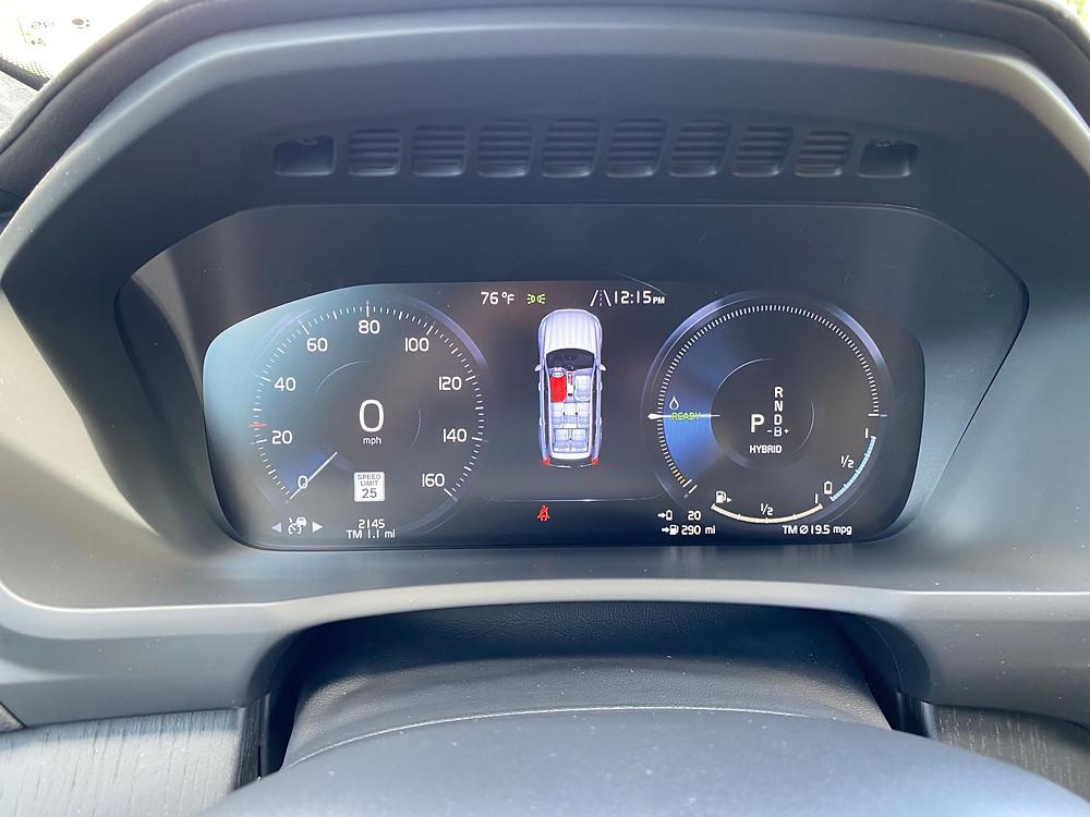 2021 Volvo XC90 Recharge T8 Inscription gauge cluster
