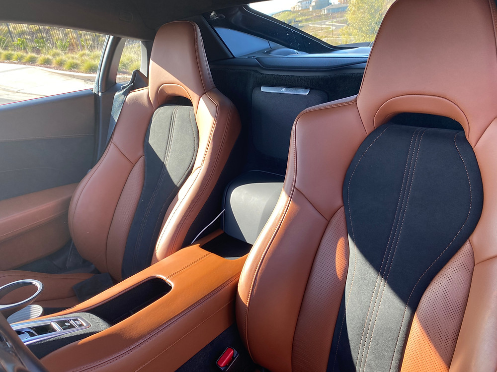 2020 Acura NSX seat detail