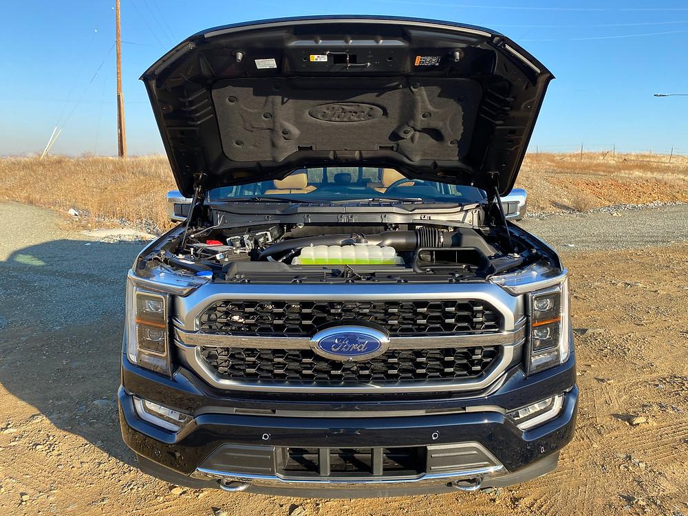 2021 Ford F-150 4X4 Supercrew hood up