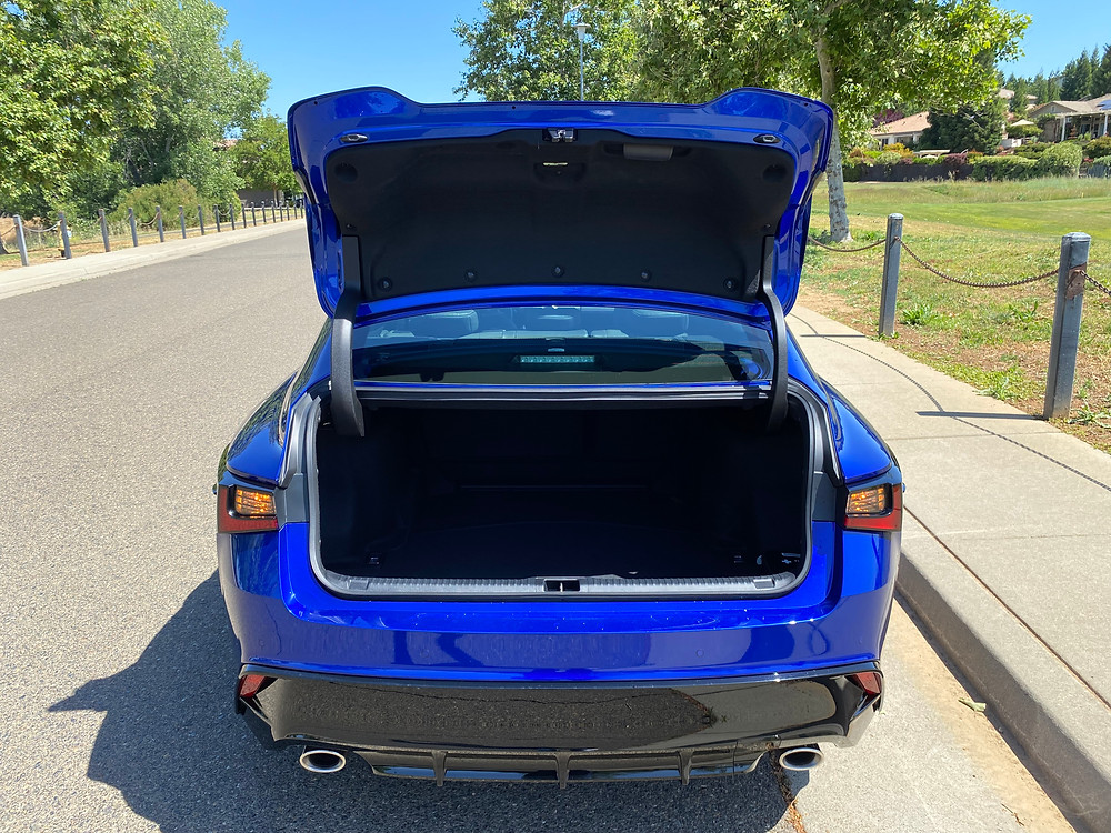 2021 Lexus IS 350 F SPORT trunk open