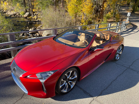 Zero Objectivity Promised or Possible: The 2021 Lexus LC 500 Convertible.