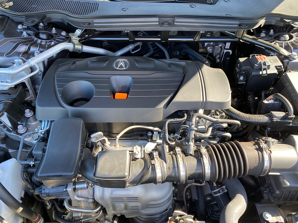 2021 Acura TLX SH-AWD A-Spec engine detail