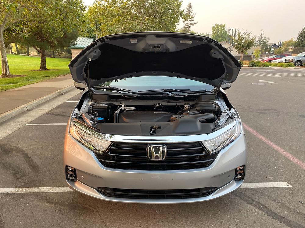 2021 Honda Odyssey Elite hood up