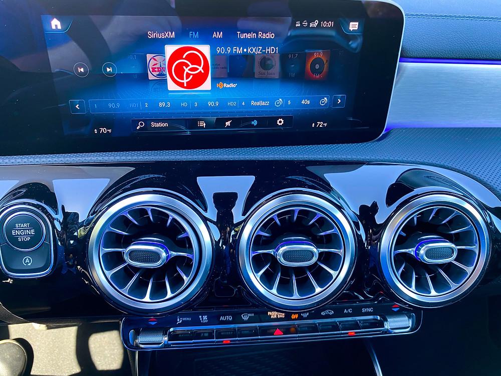 2020 Mercedes-Benz AMG CLA35 4MATIC infotainment and HVAC