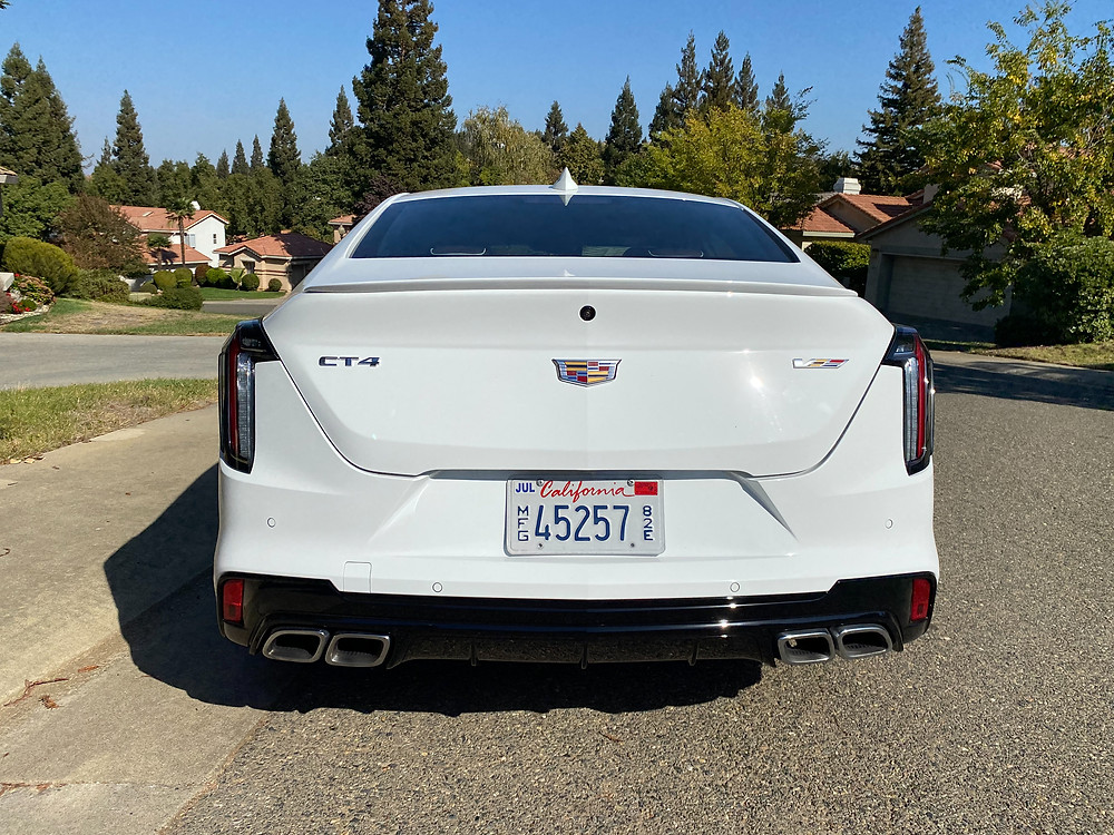2020 Cadillac CT4 V-series rear view