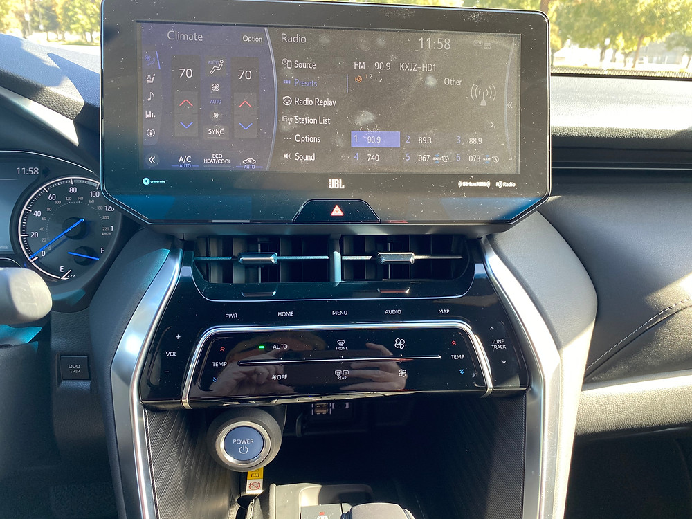 2021 Toyota Venza Limited infotainment and HVAC