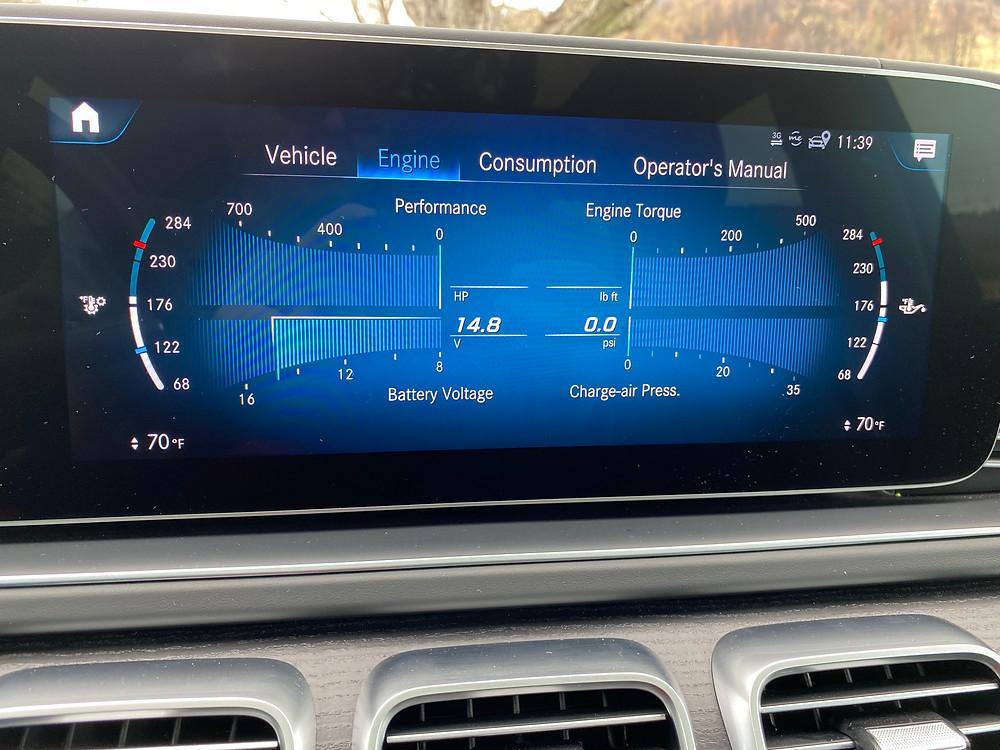 2021 Mercedes-Maybach GLS 600 engine screen