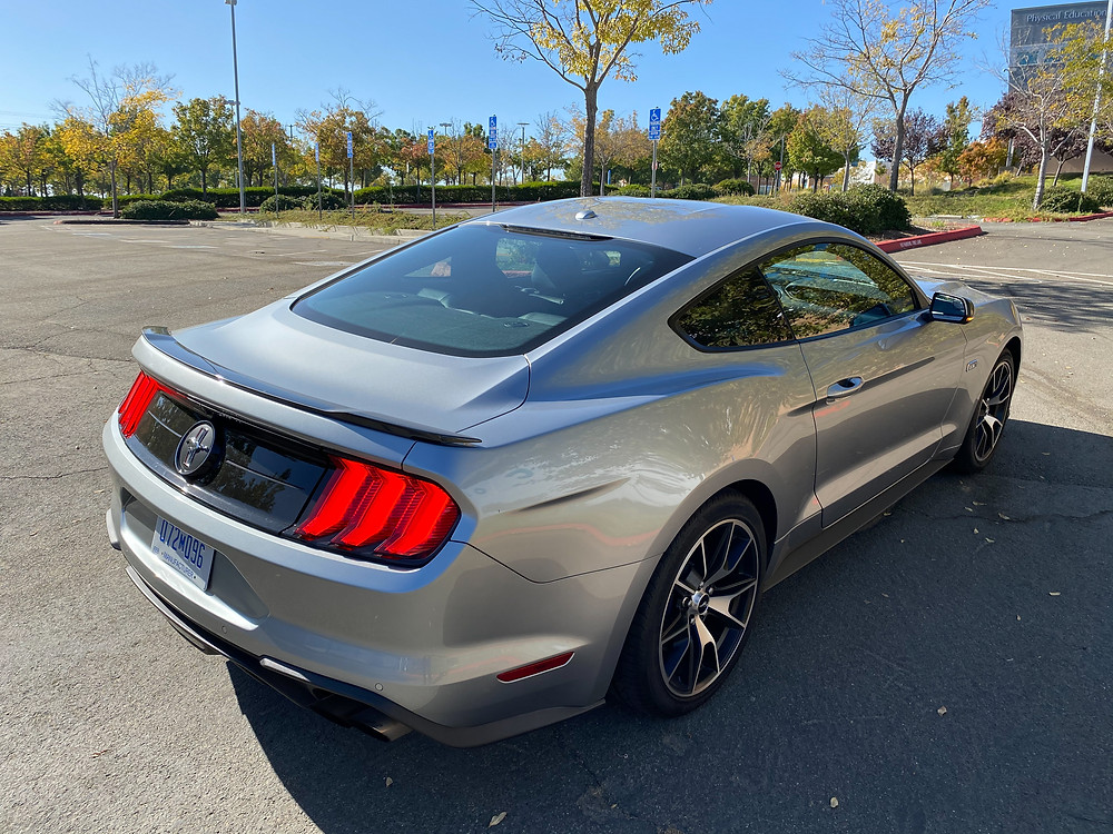 2020 Ford Mustang 2.3L High Performance Ecoboost Premium rear 3/4 view