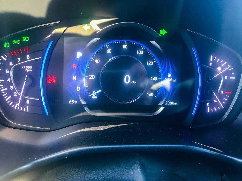 2020 Hyundai Santa Fe Limited 2.0T gauge cluster