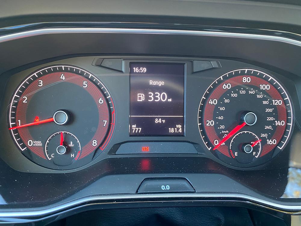 2020 Volkswagen Jetta 1.4T R-Line gauge cluster