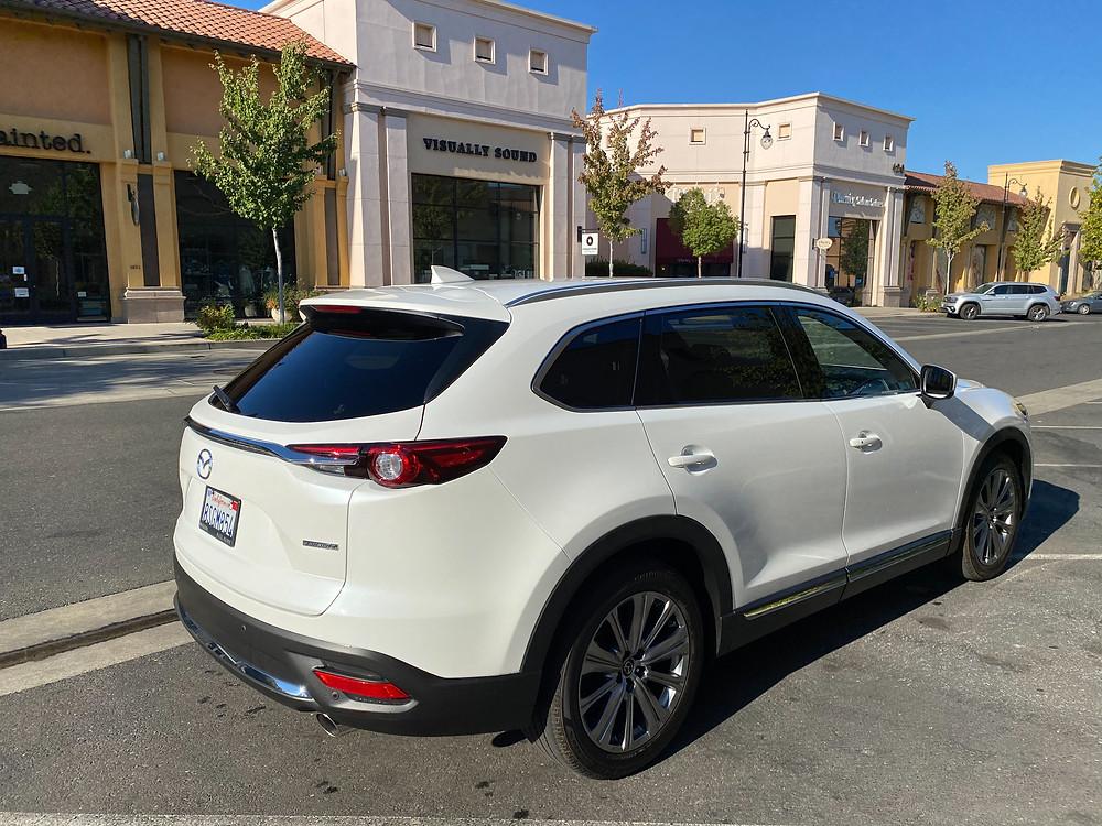 2021 Mazda CX-9 Signature AWD rear 3/4 view