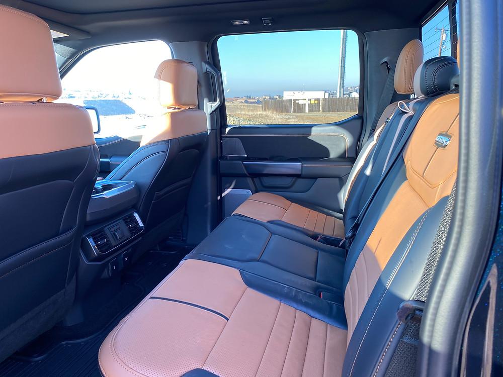2021 Ford F-150 4X4 Supercrew rear seat