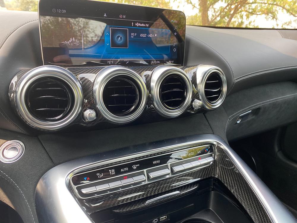 2020 Mercedes-AMG GT C infotainment and HVAC