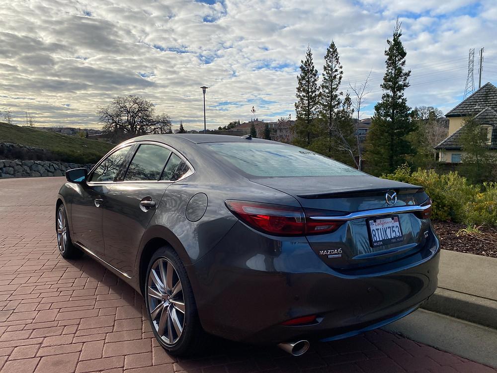 2021 Mazda 6 Signature rear 3/4 view
