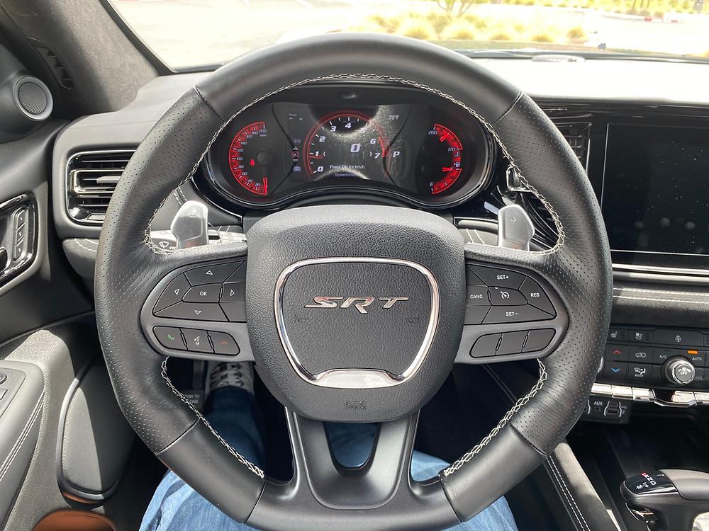 2021 Dodge Durango SRT Hellcat AWD steering wheel and gauge cluster