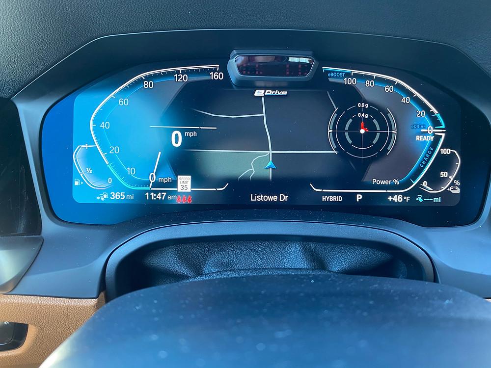 2021 BMW 330e gauge cluster