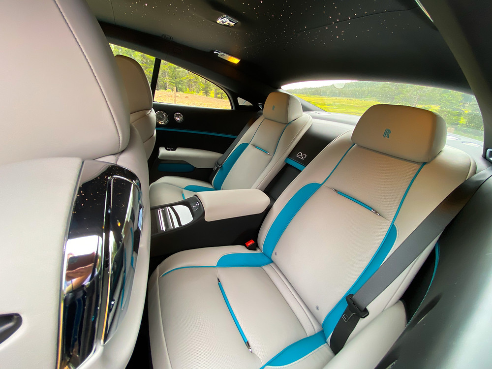 2020 Rolls-Royce Wraith Black Badge rear seats