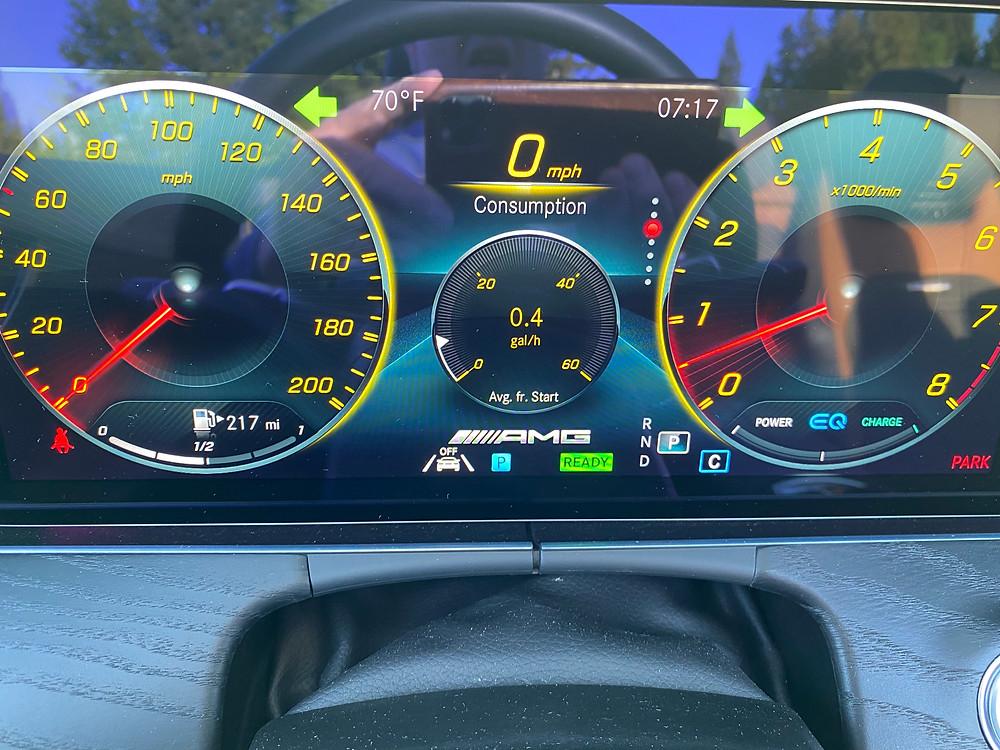2021 Mercedes-AMG E53 Cabriolet gauge cluster