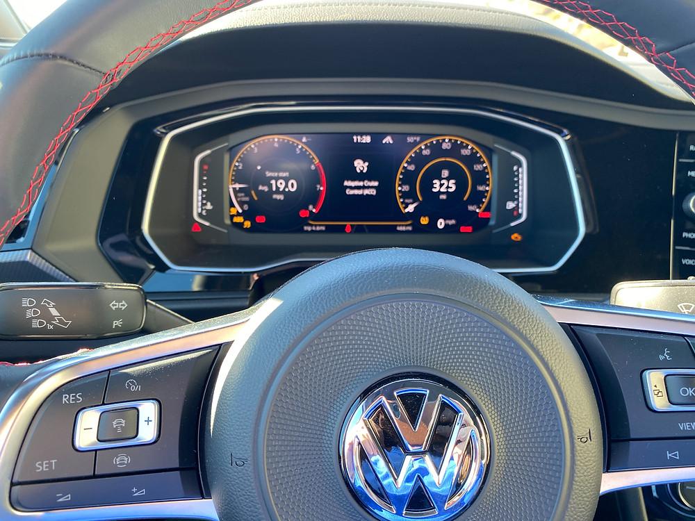 2021 Volkswagen Jetta GLI Autobahn steering wheel and gauge cluster