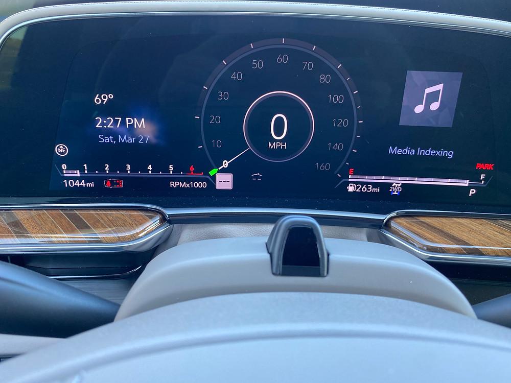 2021 Cadillac Escalade 4WD Platinum gauge cluster
