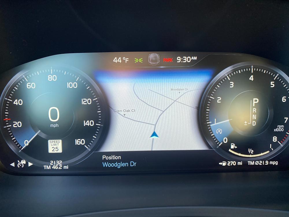 2021 Volvo V90 T6 AWD R-Design gauge cluster