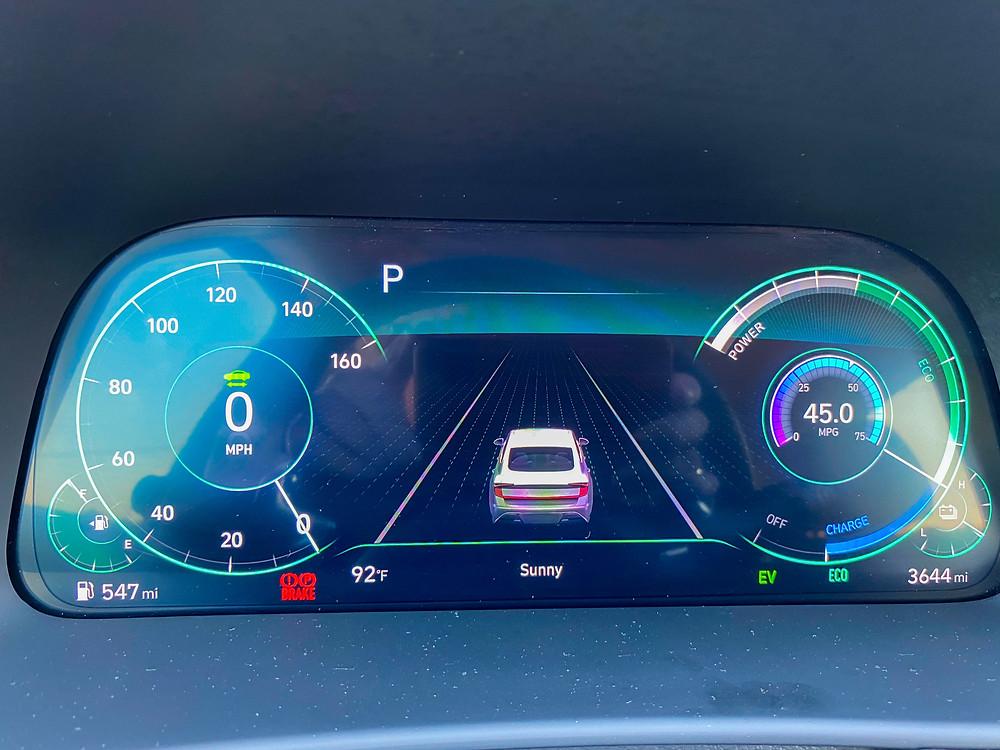 2020 Hyundai Sonata Hybrid Limited gauge cluster