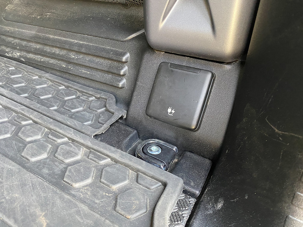 2020 Land Rover Defender 110 SE cargo area power outlet