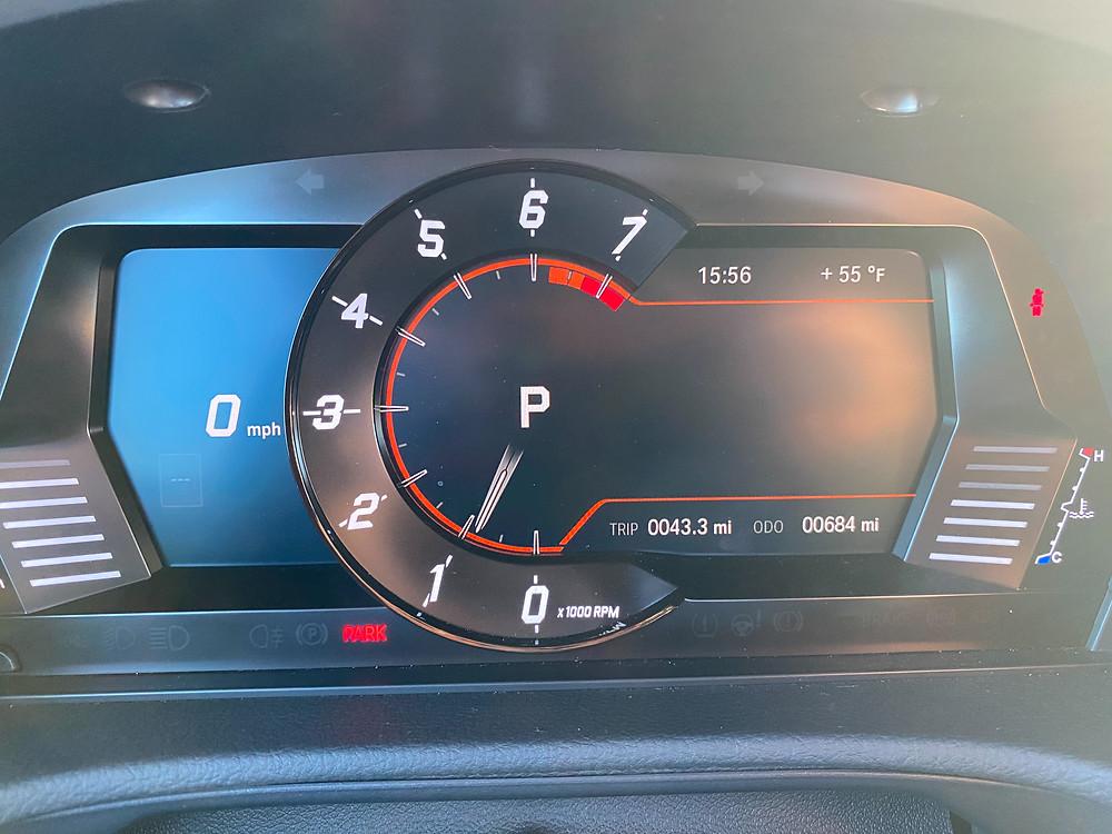 2021 Toyota GR Supra 2.0 gauge cluster