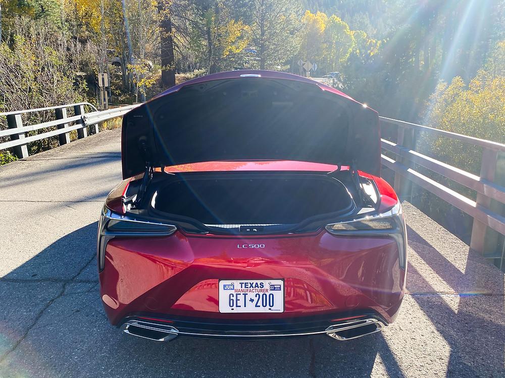 2021 Lexus LC 500 Convertible trunk open