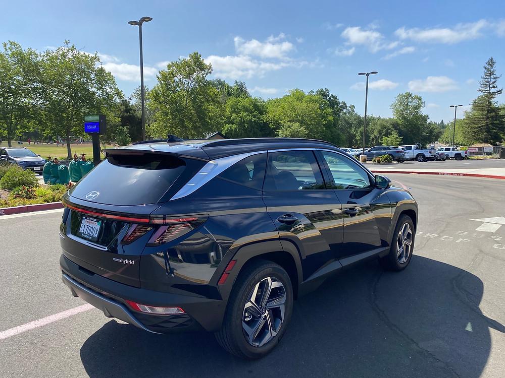 2021 Hyundai Tucson Limited Hybrid AWD rear 3/4 view
