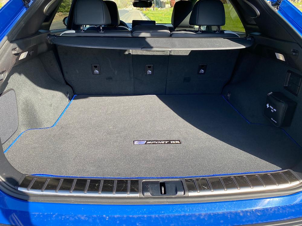 2021 Lexus RX 350 F SPORT Black Line cargo area