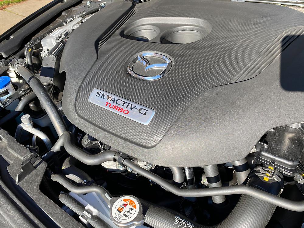 2021 Mazda 3 2.5 Turbo AWD engine detail