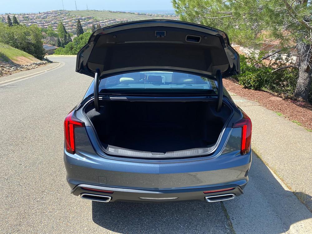 2021 Cadillac CT5 Premium Luxury trunk open