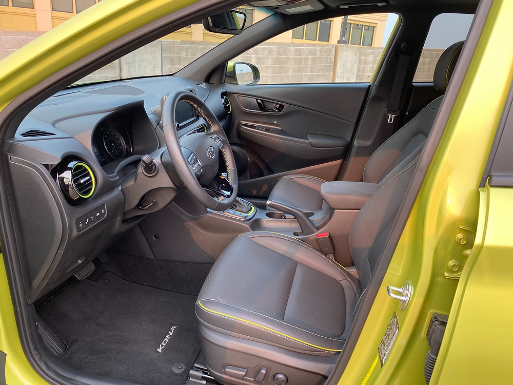 2020 Hyundai Kona Ultimate FWD front seats