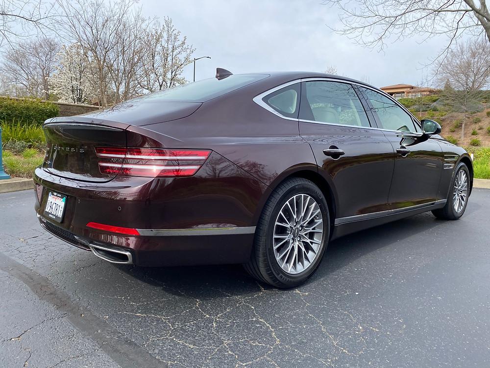 2021 Genesis G80 2.5T Standard rear 3/4 view