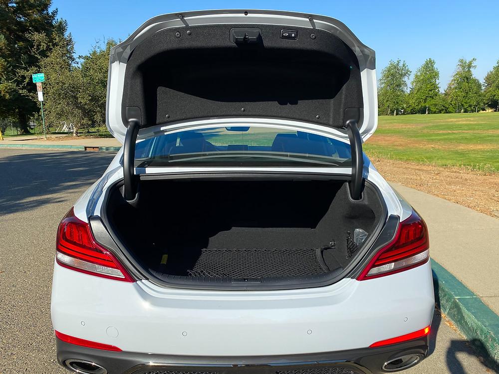 2020 Genesis G70 3.3T Sport trunk open