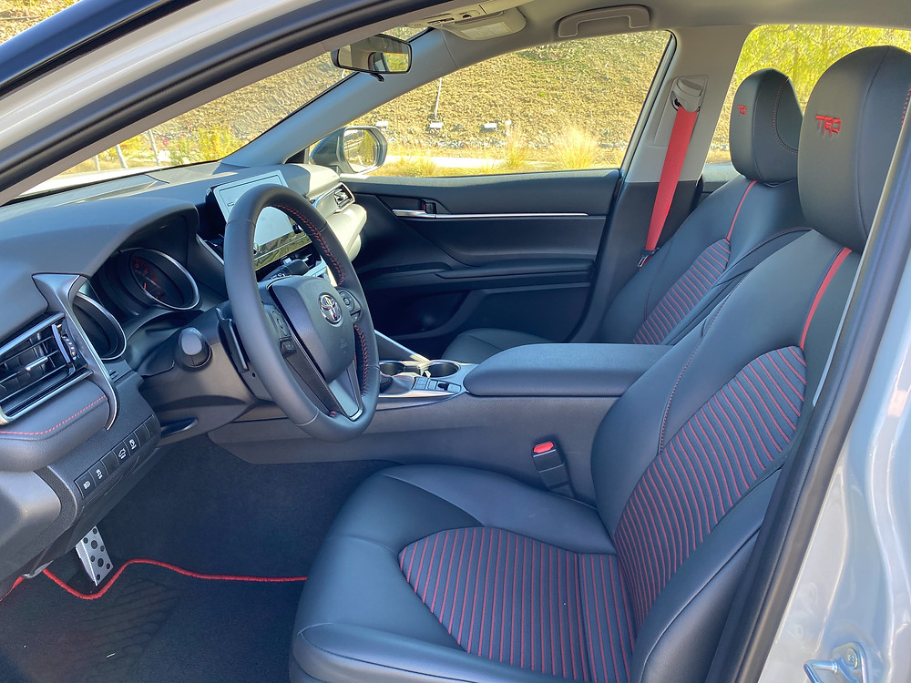 2021 Toyota Camry V6 TRD front seats