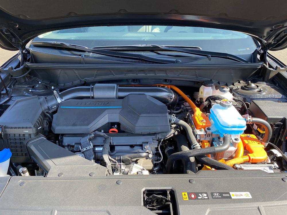 2021 Hyundai Tucson Limited Hybrid AWD powerplant