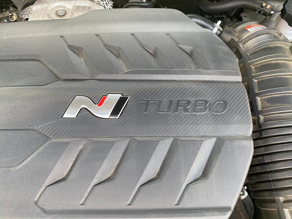 2021 Hyundai Veloster N engine detail