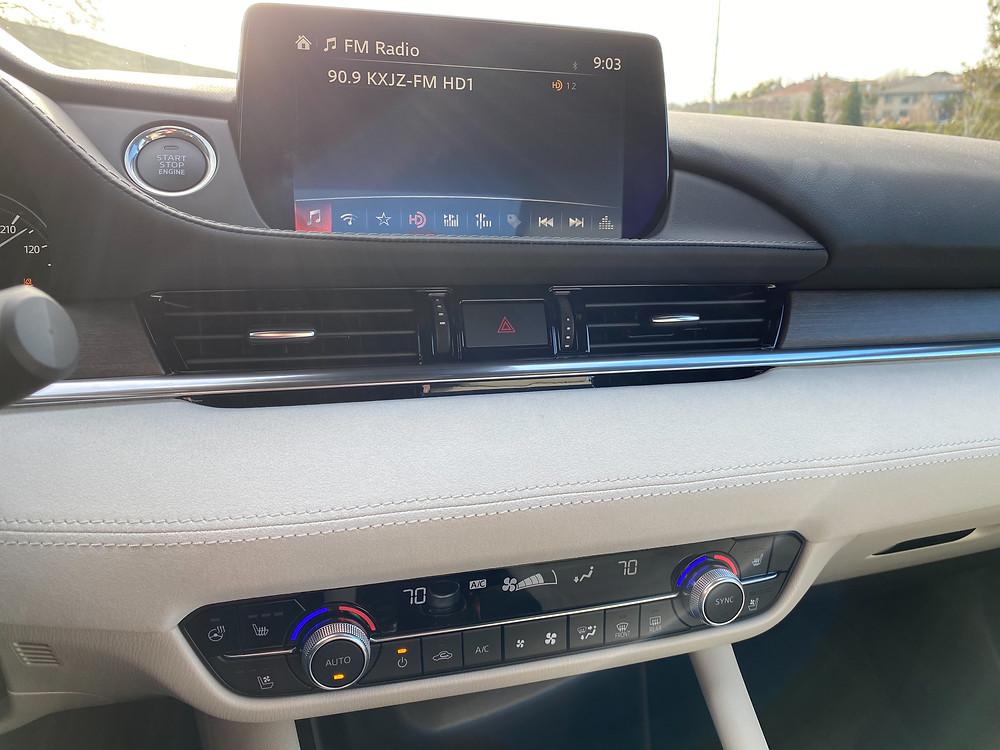 2021 Mazda 6 Signature infotainment and HVAC