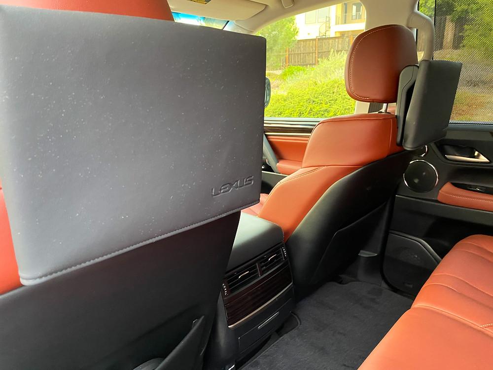 2020 Lexus LX570 rear seat entertainment screens