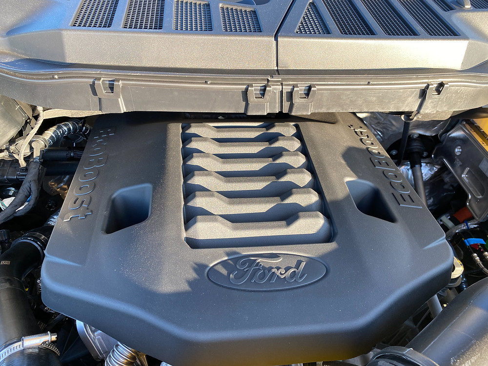 2020 Ford F-150 4X4 Supercrew engine detail