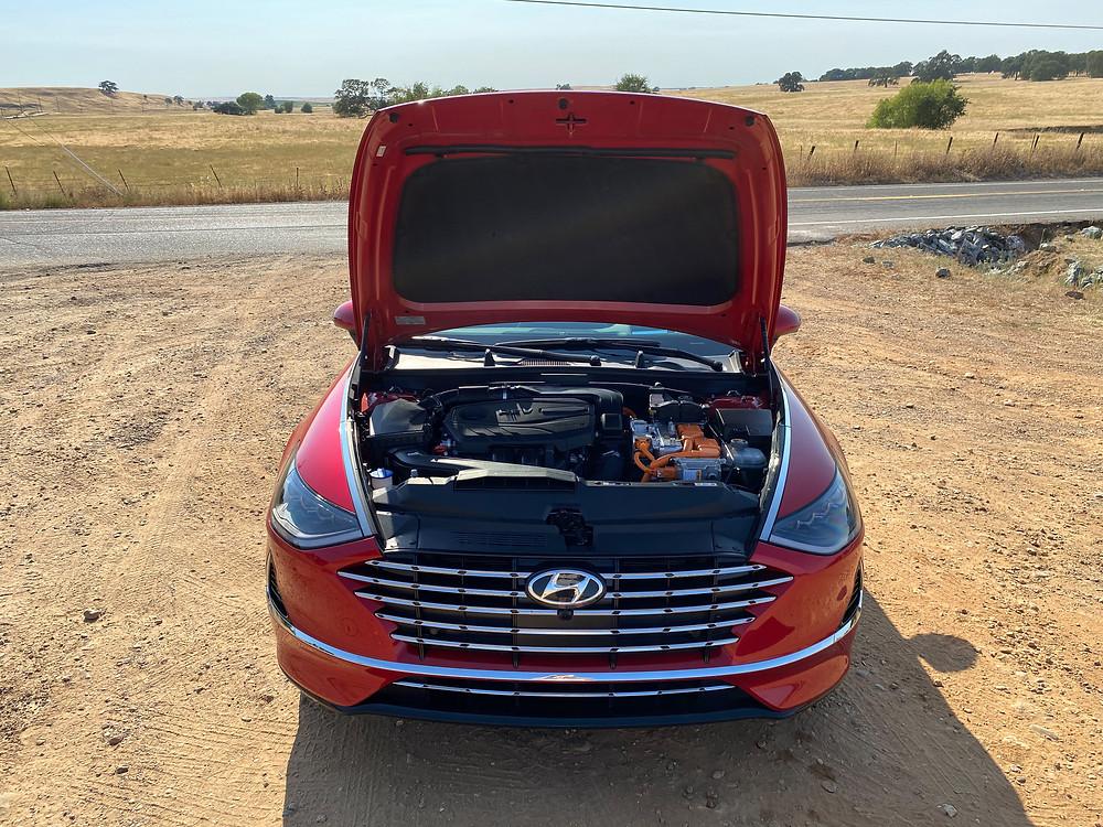 2020 Hyundai Sonata Hybrid Limited hood up