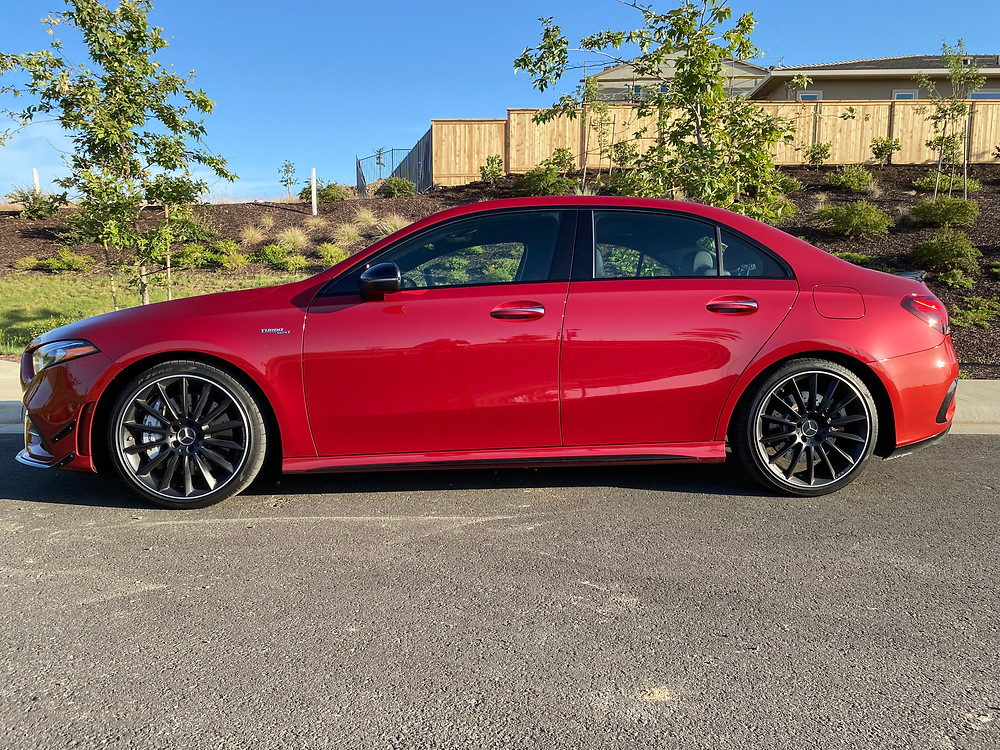 2021 Mercedes-AMG A35 4MATIC side view