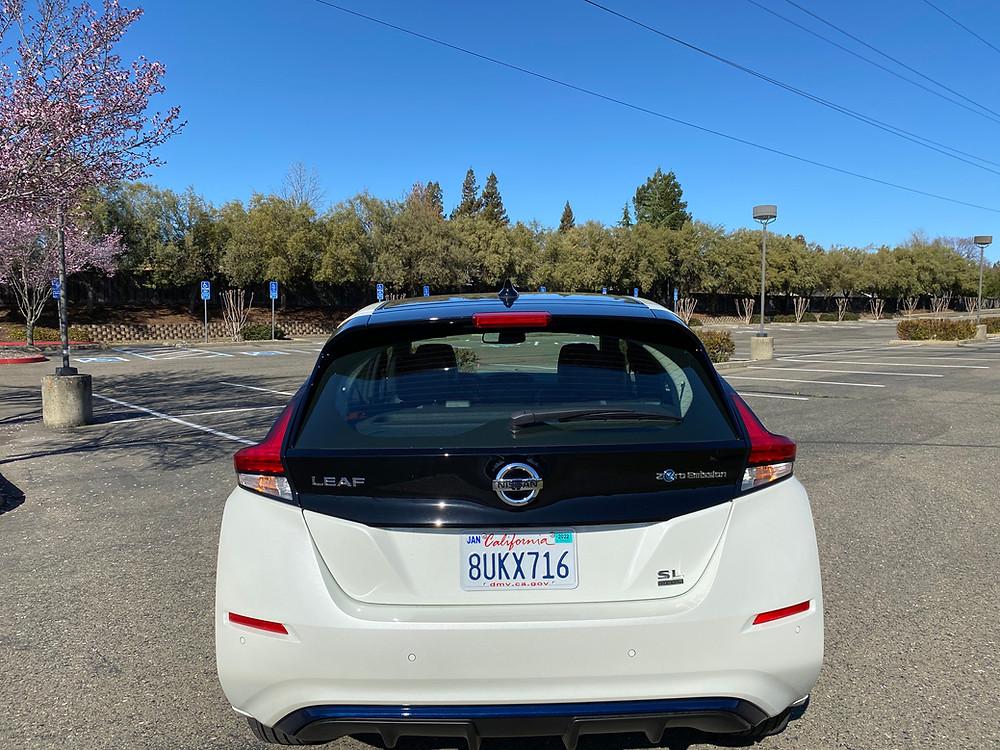 2021 Nissan Leaf SL Plus rear view