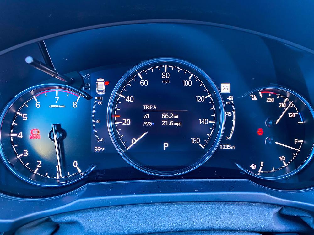 2020 Mazda CX-5 Signature AWD gauge cluster